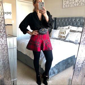 Garage Red Plaid Mini Skirt Sz XS